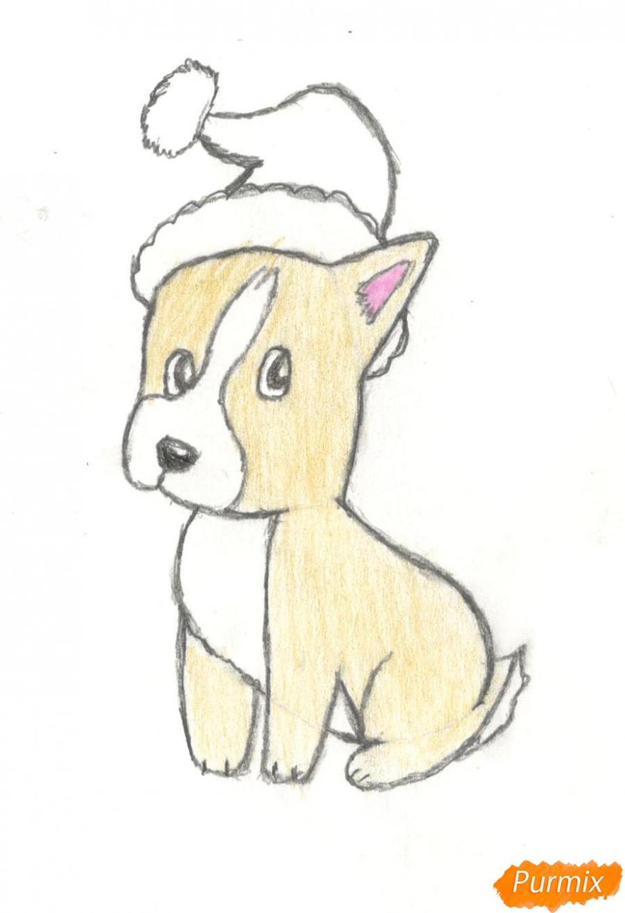 Рисуем щенка на новый год 2018 для начинающих - шаг 10