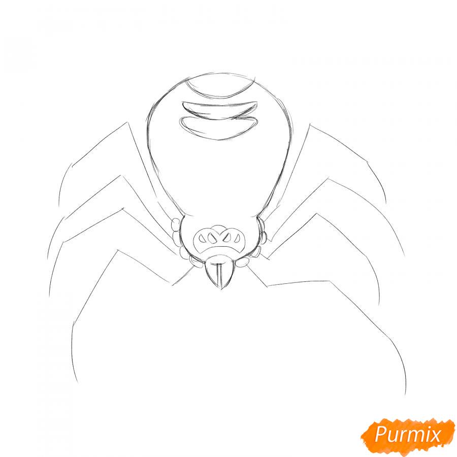 Рисуем страшного паука на Хэллоуин - шаг 3