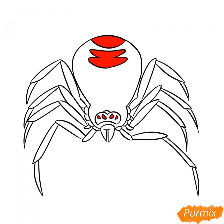 Рисуем страшного паука на Хэллоуин - шаг 6