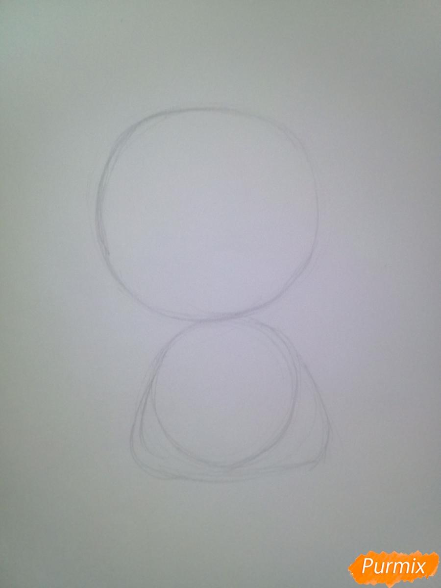 Рисуем свинью символ 2019 года карандашами - шаг 2
