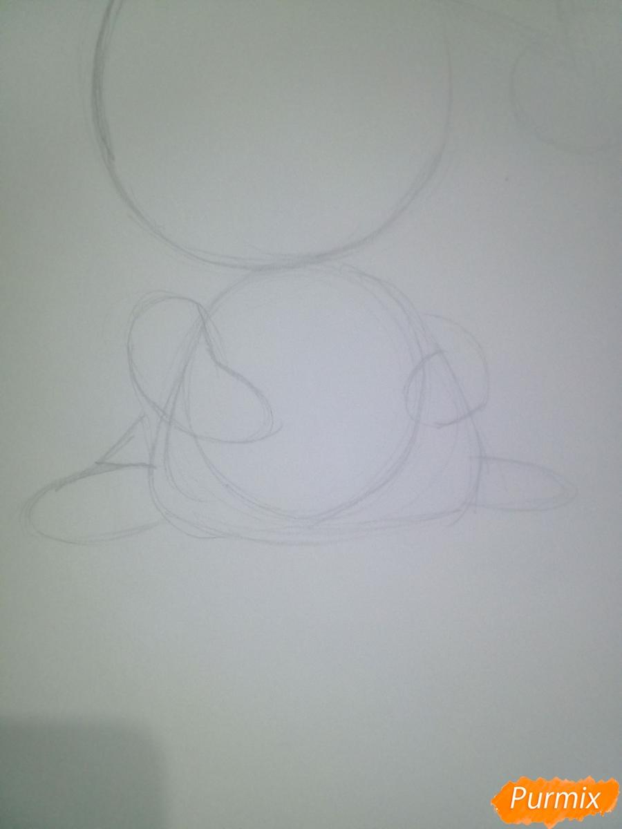 Рисуем свинью символ 2019 года карандашами - шаг 4