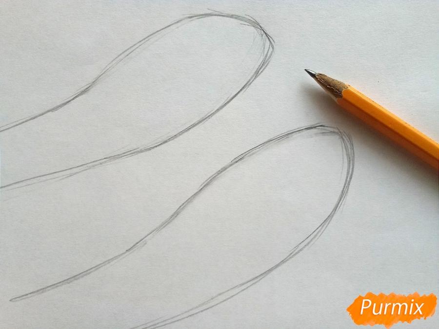 Рисуем вязаные варежки на руках - шаг 1
