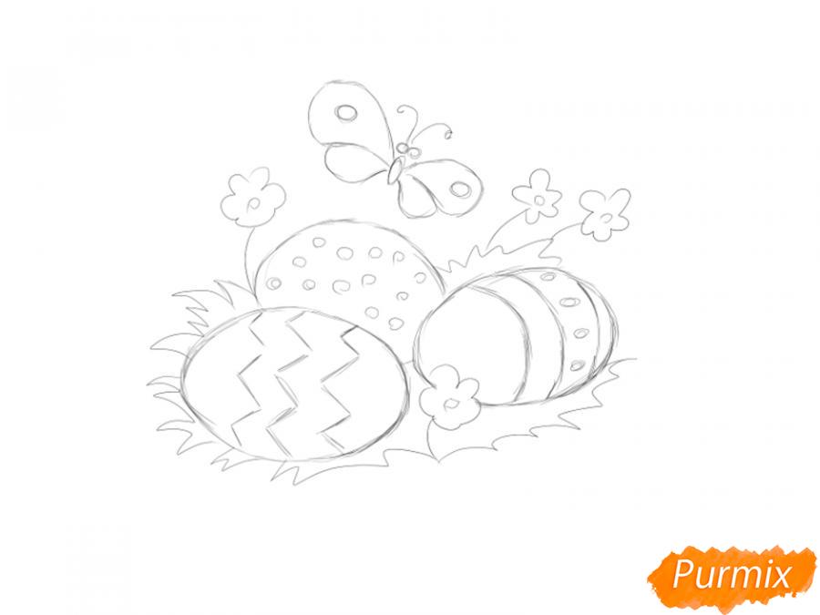 Рисуем яйца на Пасху - шаг 3
