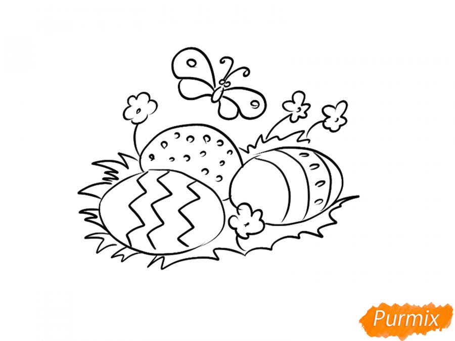 Рисуем яйца на Пасху - шаг 4