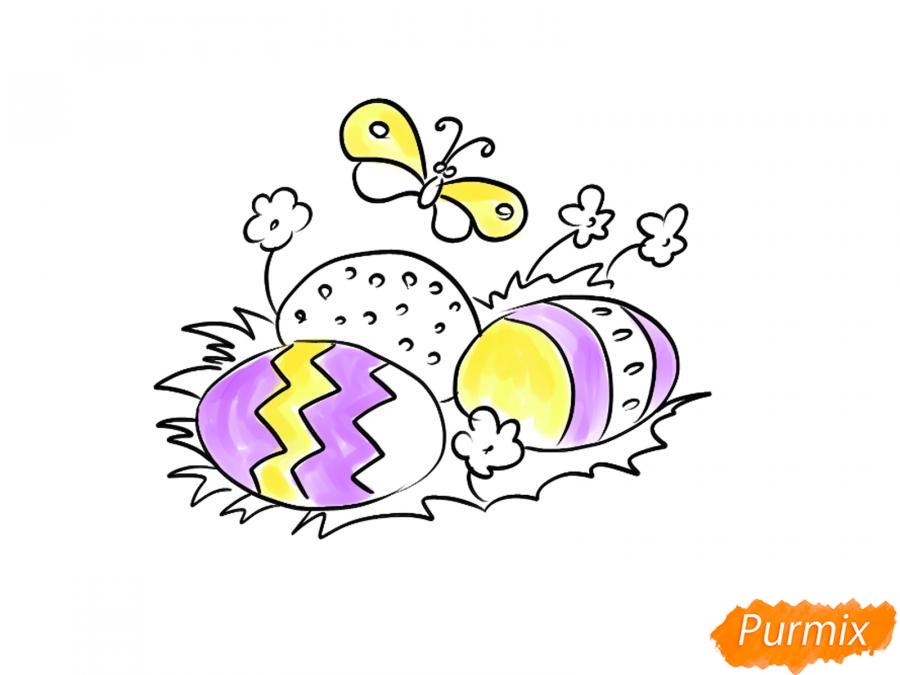 Рисуем яйца на Пасху - шаг 6