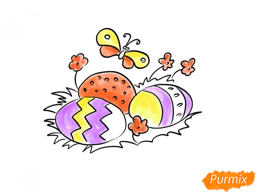 Рисуем яйца на Пасху - шаг 7