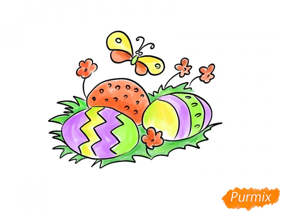 Рисуем яйца на Пасху - шаг 8