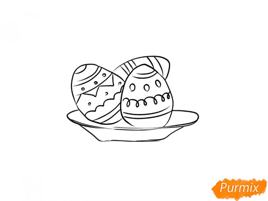 Рисуем яйца на тарелке к Пасхе - шаг 5
