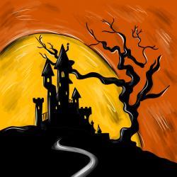 Фото замок на Хэллоуин