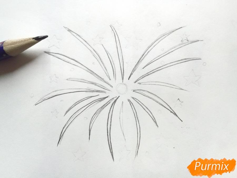 Как просто нарисовать фейерверк - шаг 1