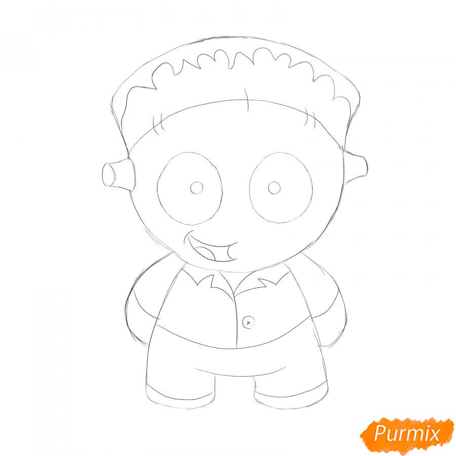 Как просто нарисовать Франкенштейна на Хэллоуин - шаг 4