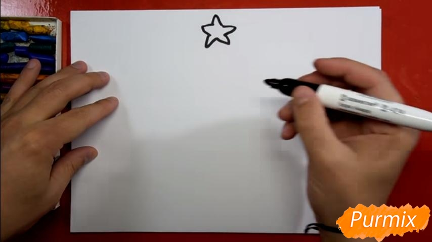 Рисуем ёлку для детей - шаг 1