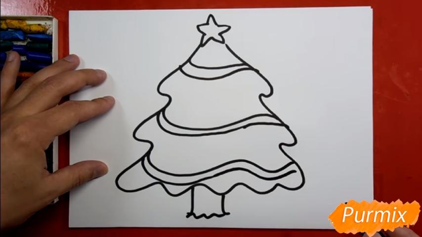 Рисуем ёлку для детей - шаг 3