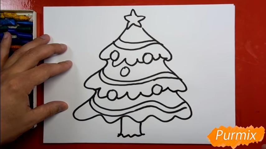 Рисуем ёлку для детей - шаг 4