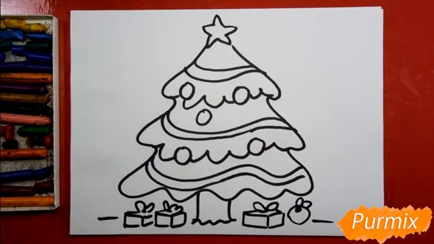 Рисуем ёлку для детей - шаг 5