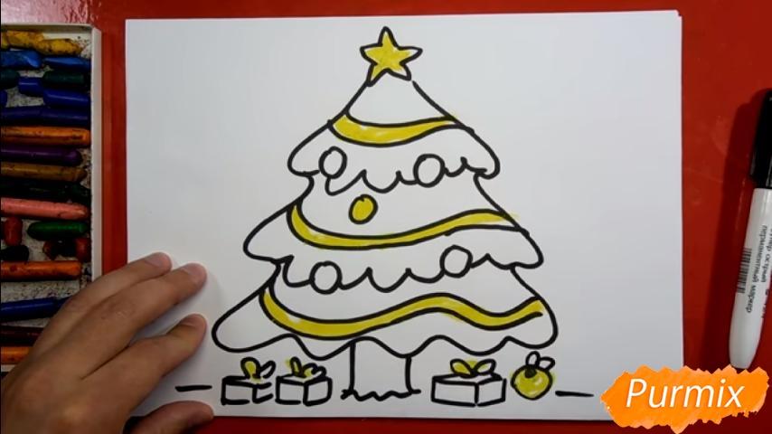 Рисуем ёлку для детей - шаг 6