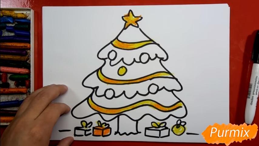 Рисуем ёлку для детей - шаг 7