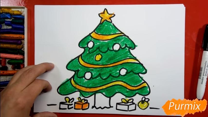 Рисуем ёлку для детей - шаг 8