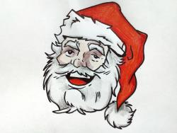 лицо Деда Мороза . 8 уроков
