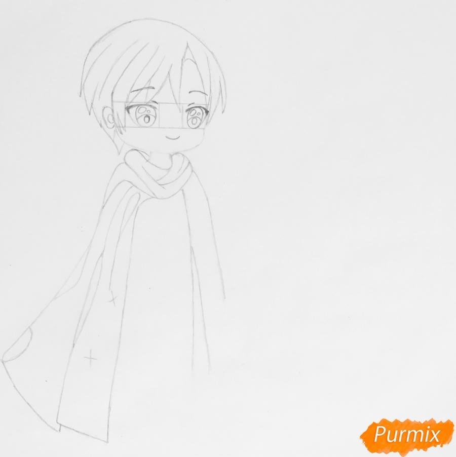 Рисуем влюблённых принца и принцессу в стиле чиби на День Святого Валентина - шаг 4
