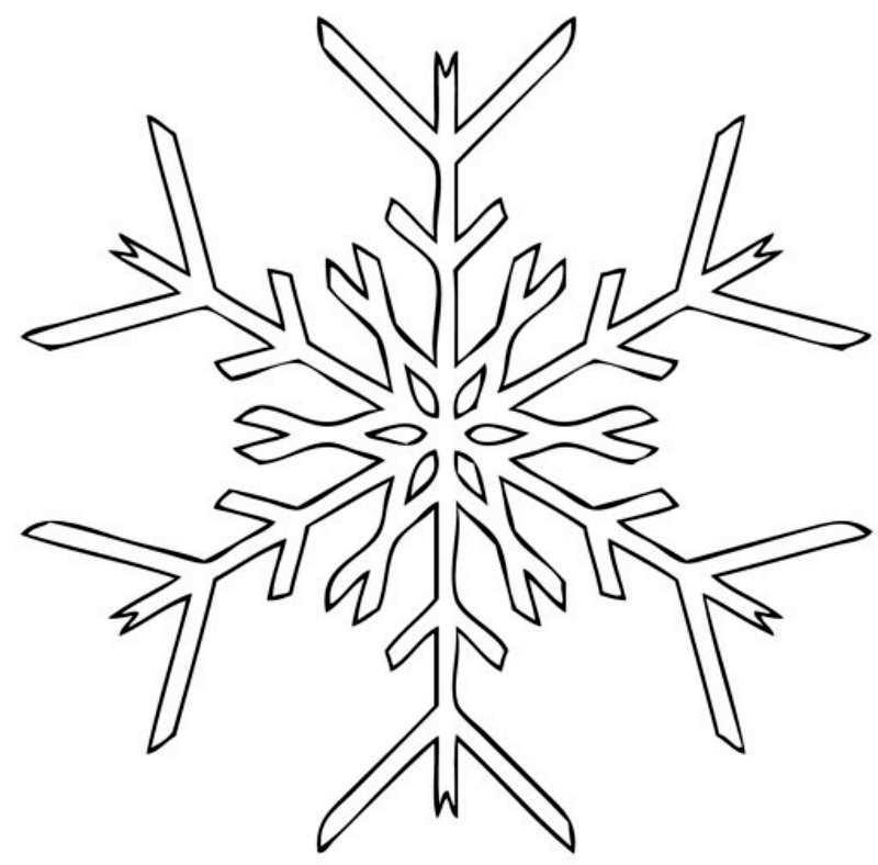 Рисунки снежинок для срисовки - шаг 2
