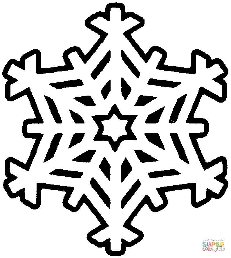 Рисунки снежинок для срисовки - шаг 7