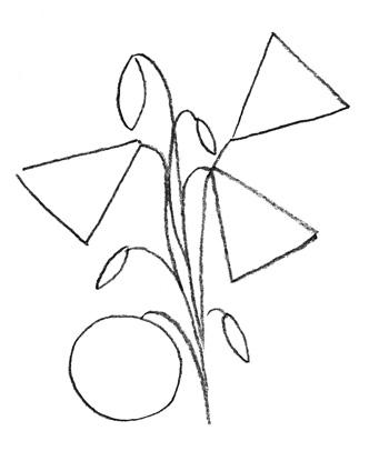 Рисуем колокольчик цветок - шаг 2