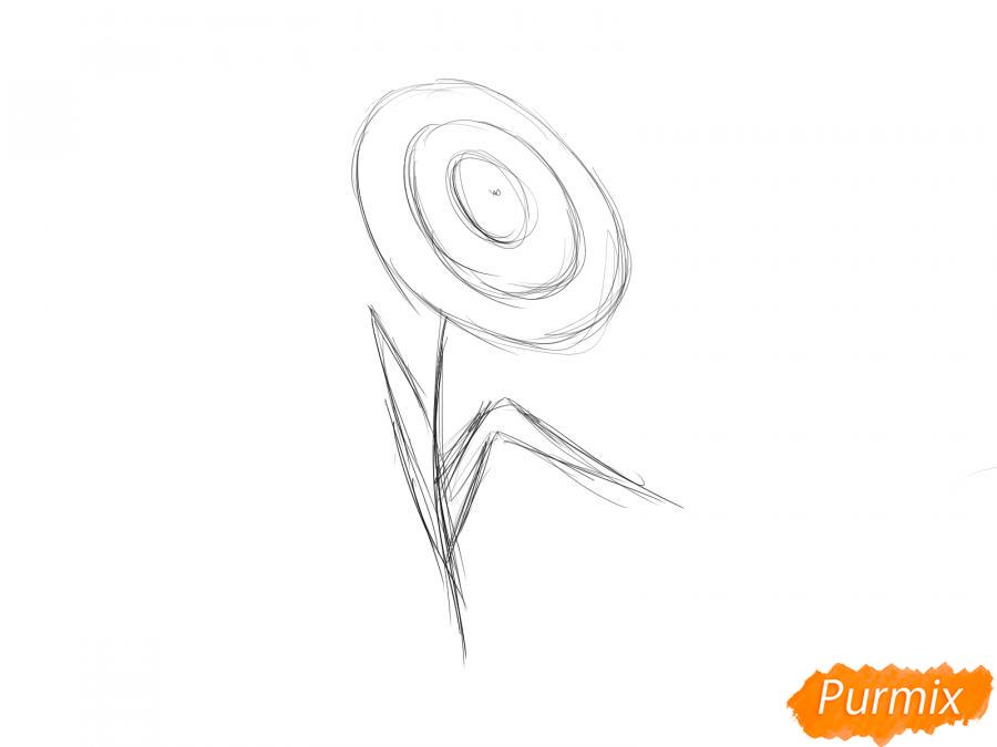 Как легко нарисовать астру детям - шаг 3