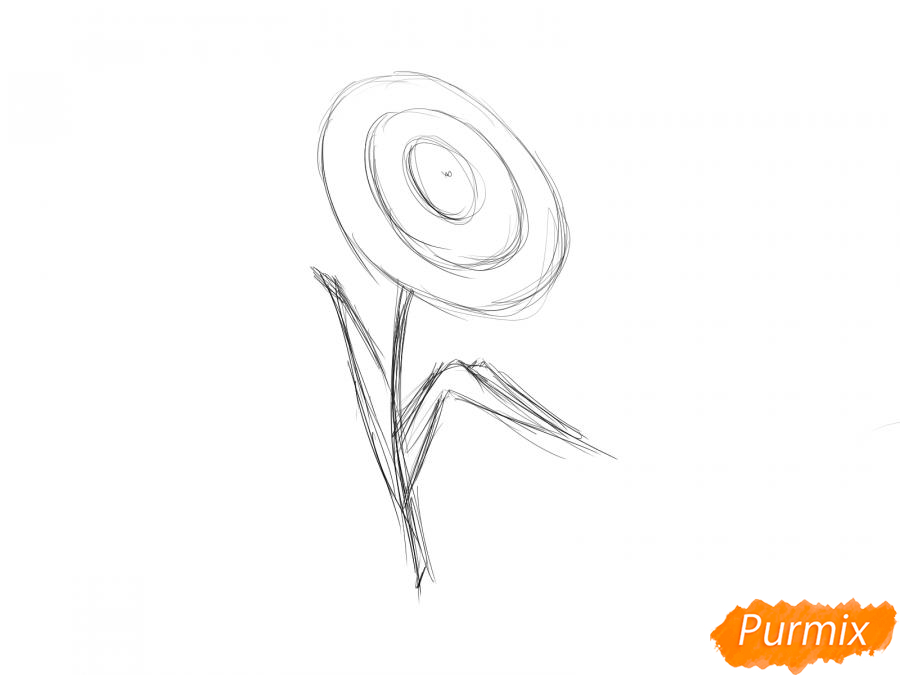 Как легко нарисовать астру детям - шаг 4