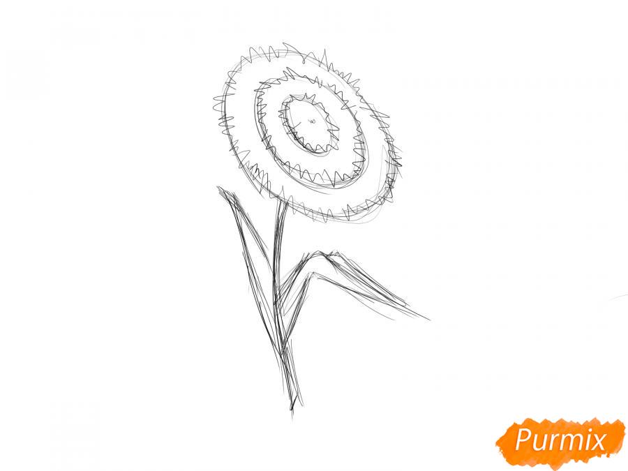 Как легко нарисовать астру детям - шаг 5