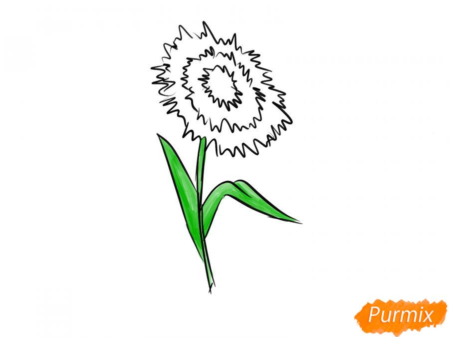 Как легко нарисовать астру детям - шаг 7
