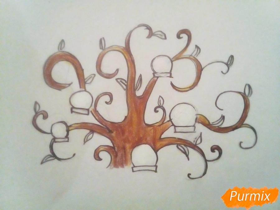 Как легко нарисовать генеалогическое древо - шаг 6