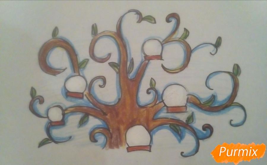 Как легко нарисовать генеалогическое древо - шаг 7