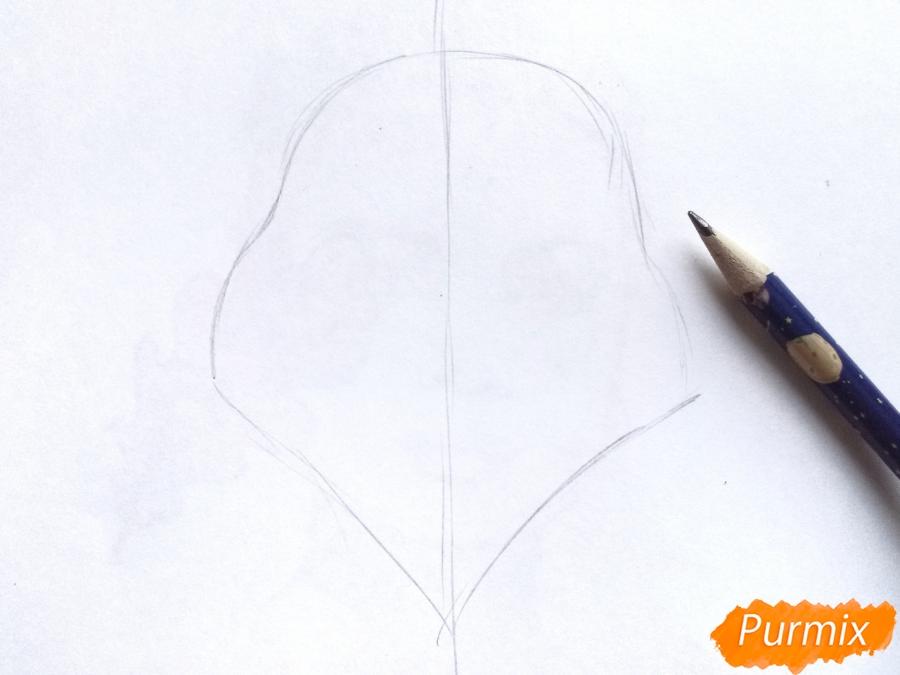 Рисуем бога зимы Зюзю карандашами - шаг 1