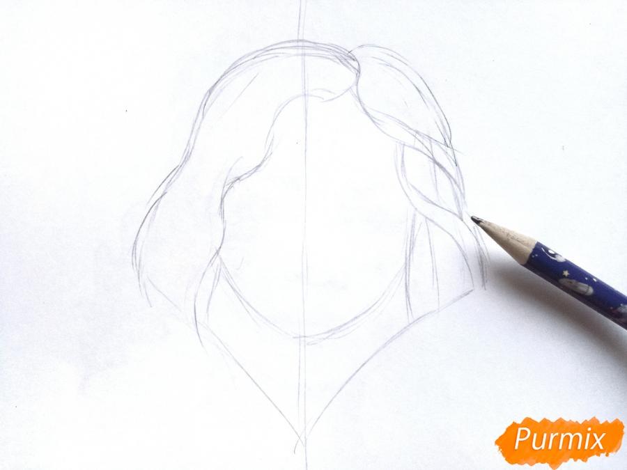 Рисуем бога зимы Зюзю карандашами - шаг 2