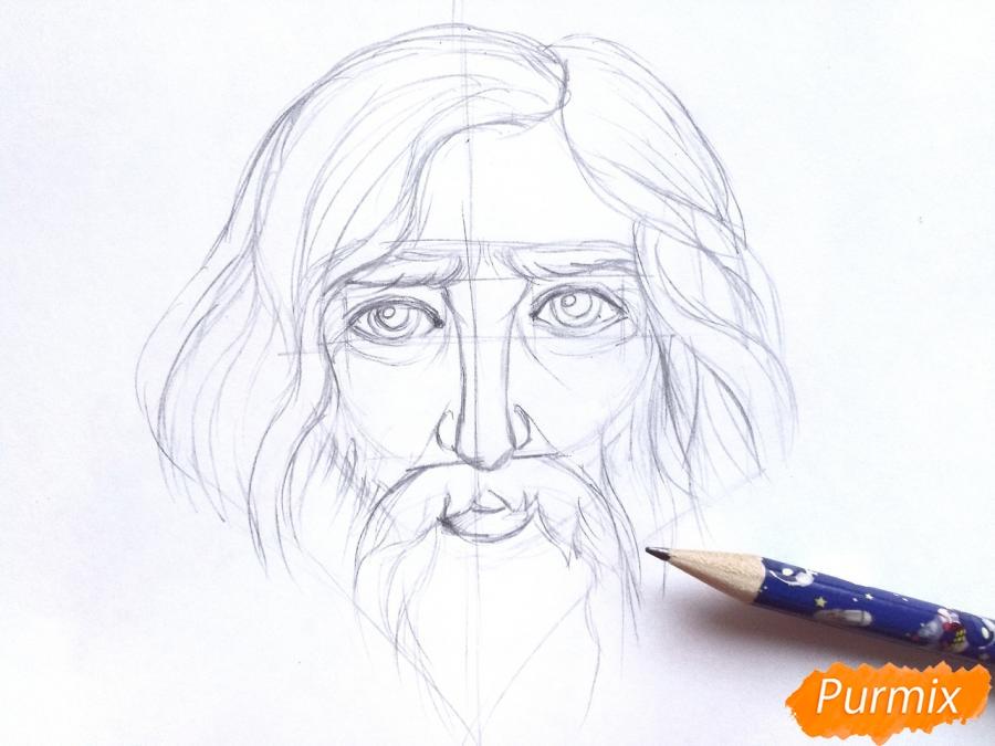 Рисуем бога зимы Зюзю карандашами - шаг 4