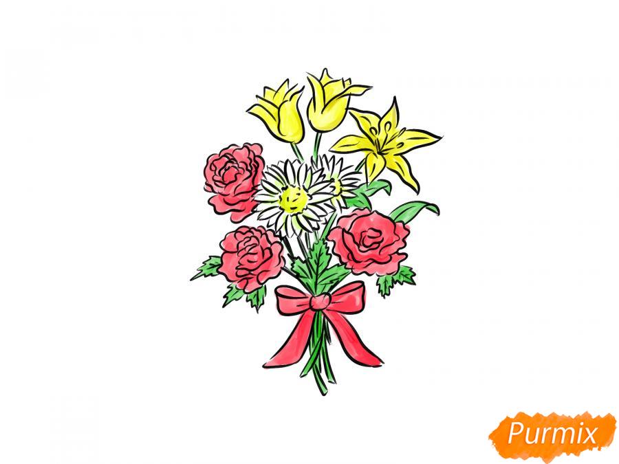 Рисуем букет цветов - шаг 10