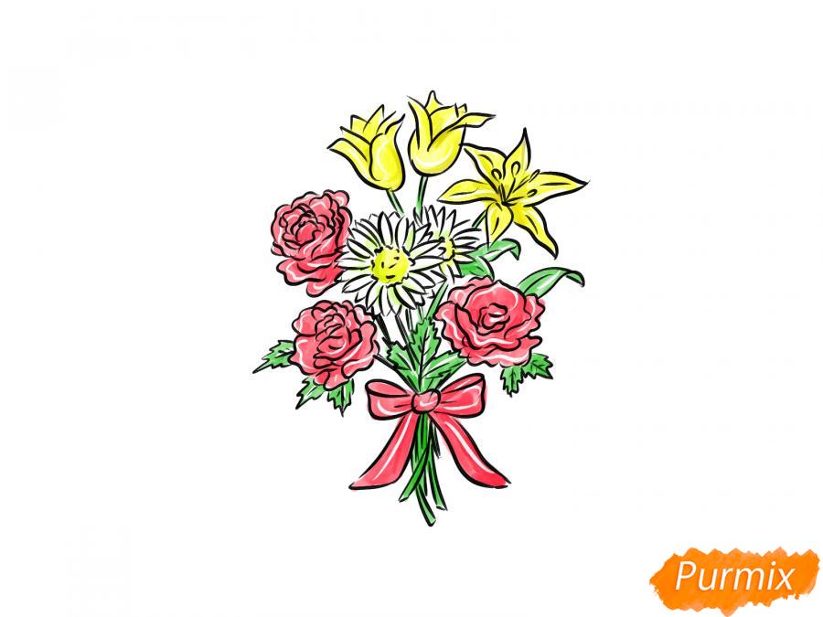 Рисуем букет цветов - шаг 11
