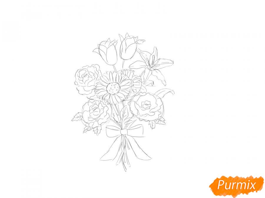 Рисуем букет цветов - шаг 6