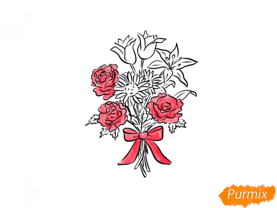 Рисуем букет цветов - шаг 8
