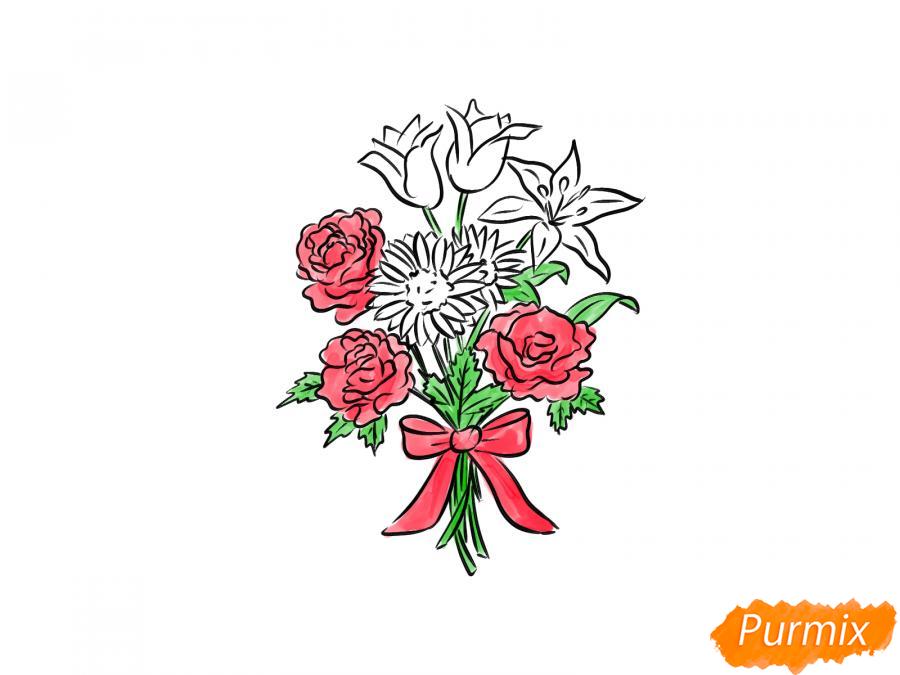 Рисуем букет цветов - шаг 9