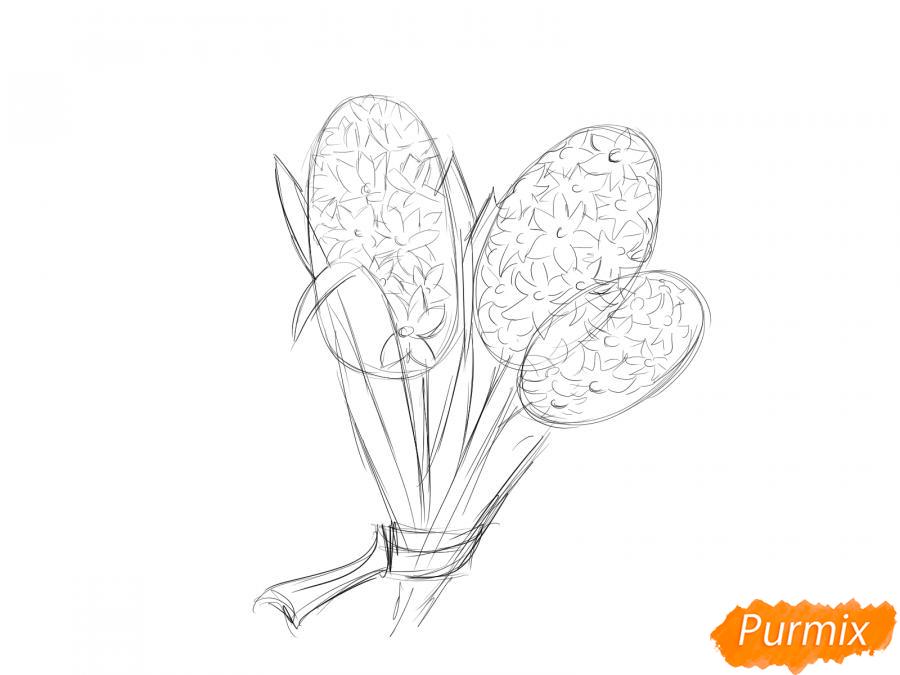 Рисуем букет гиацинтов - шаг 4