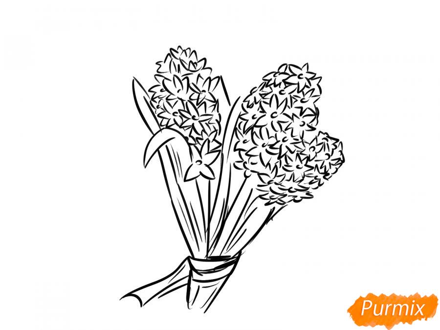 Рисуем букет гиацинтов - шаг 5