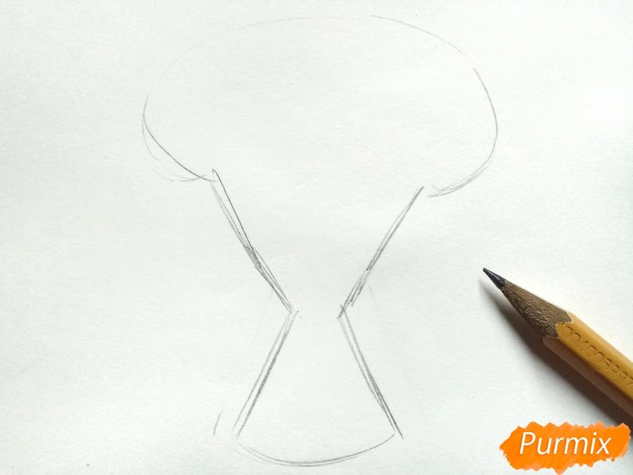 Рисуем букет гвоздик карандашами или акварелью - шаг 1