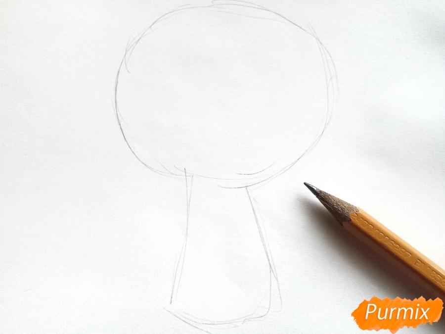 Рисуем букет лилий цветными карандашами - шаг 1