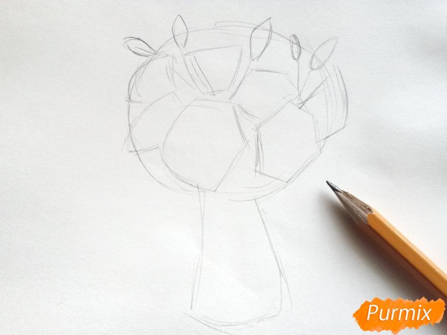 Рисуем букет лилий цветными карандашами - шаг 2