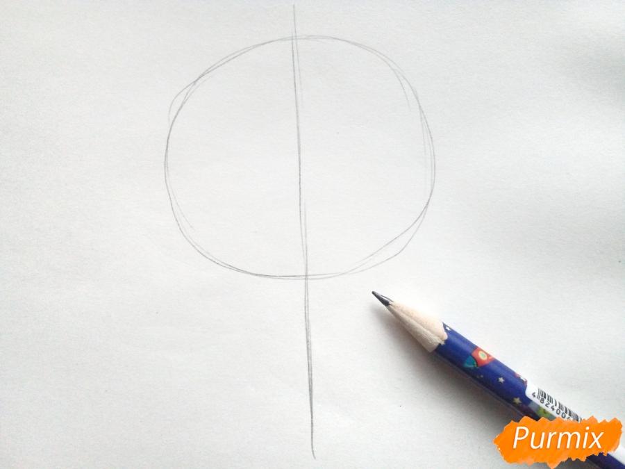 Рисуем букет нарциссов цветными карандашами - шаг 1