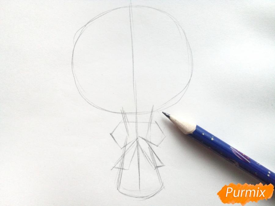 Рисуем букет нарциссов цветными карандашами - шаг 2