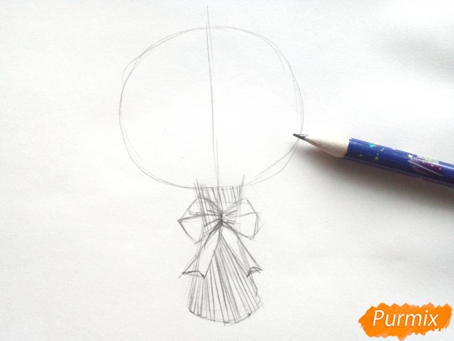 Рисуем букет нарциссов цветными карандашами - шаг 3