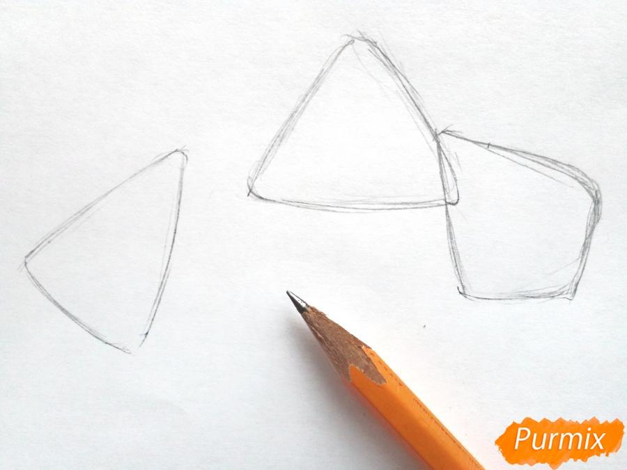 Рисуем подснежники - шаг 1